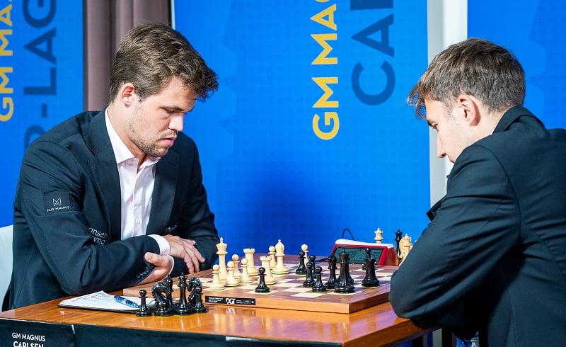 Sinquefield Cup 2018 ronde 2 Carlsen-Karjakin