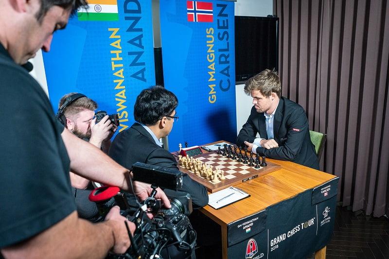 Sinquefield Cup 2018 ronde 4 Anand-Carlsen