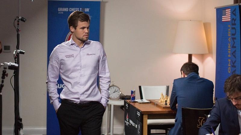 Sinquefield Cup 2018 ronde 5 Magnus Carlsen
