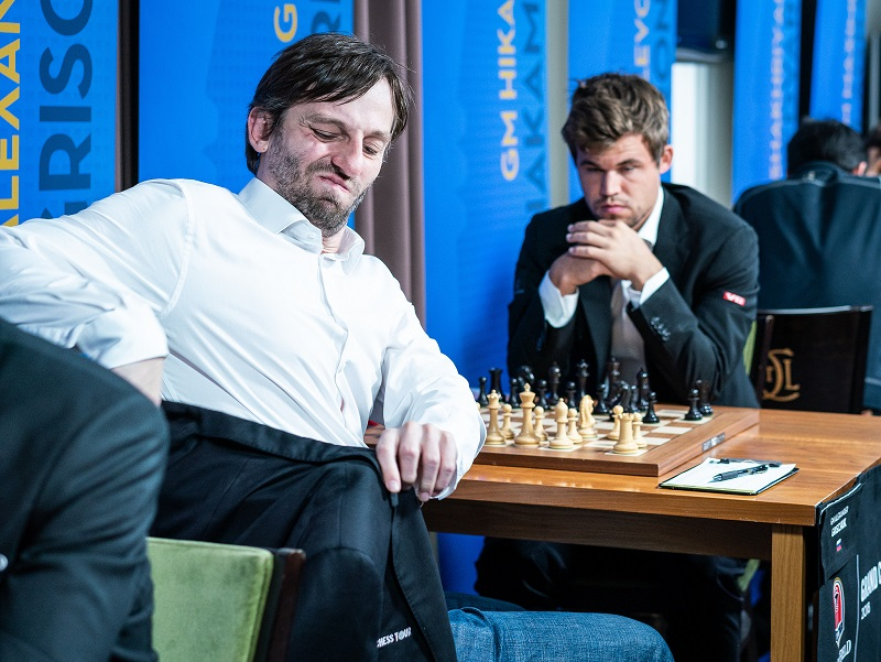 Sinquefield Cup 2018 ronde 6 Grischuk-Carlsen