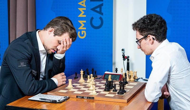 Sinquefield Cup 2018 ronde 7 Carlsen-Caruana