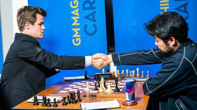 Sinqufield Cup 2018 ronde 9 Carlsen-Nakamura