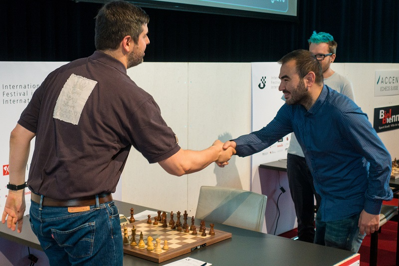 Tournoi des Grands-Maîtres au Festival des échecs de Bienne 2018 ronde 10 Svidler-Mamedyarov