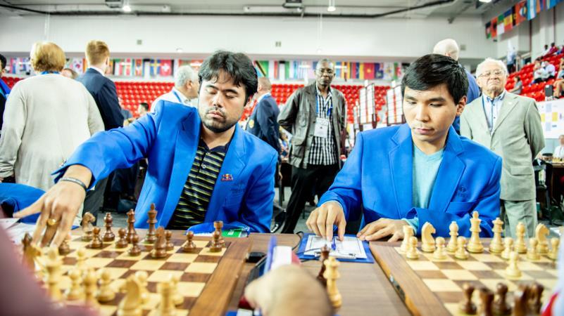 Olympiade d'échecs 2018 ronde 1 Nakamura et So