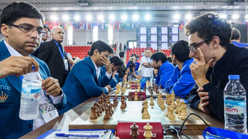 Olympiade d'échecs 2018 ronde 4 Caruana-Anand