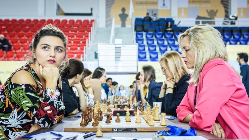 Olympiade d'échecs 2018 ronde 5 féminin Ukraine-Géorgie