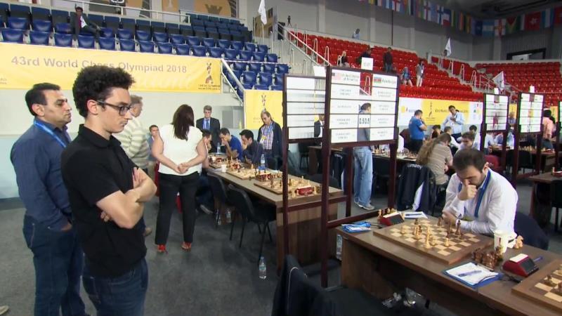 Olympiade d'échecs 2018 ronde 8 Caruana-Mamedyarov