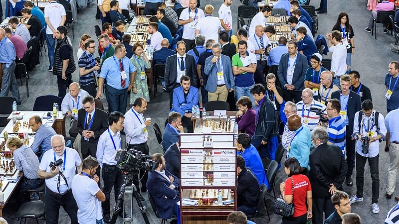 Olympiade d'échecs 2018 ronde 8 Etats-Unis Azerbaïdjan