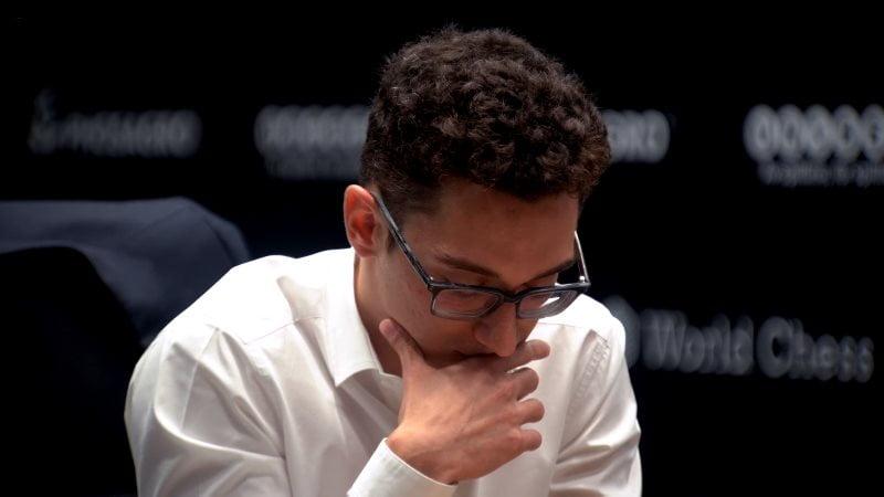 Championnat du Monde d'échecs 2018 partie 1 Fabiano Caruana