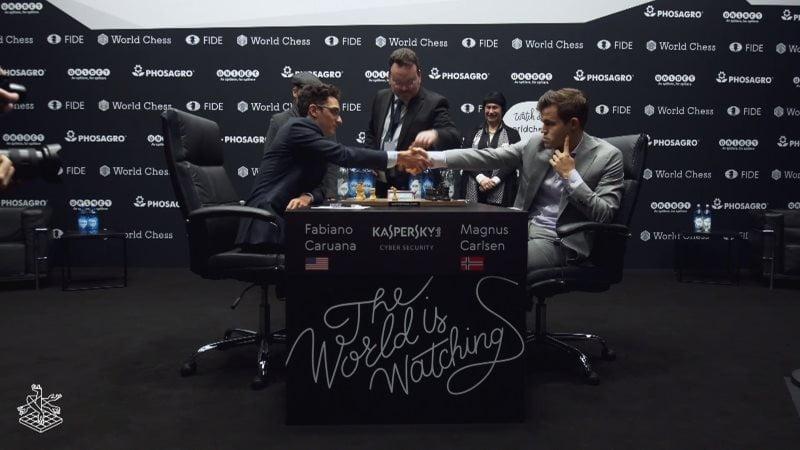 Championnat du monde d'échecs 2018 partie 10 premier coup