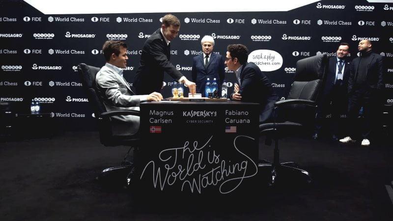 Championnat du Monde d'échecs 2018 partie 11 Karjakin b4
