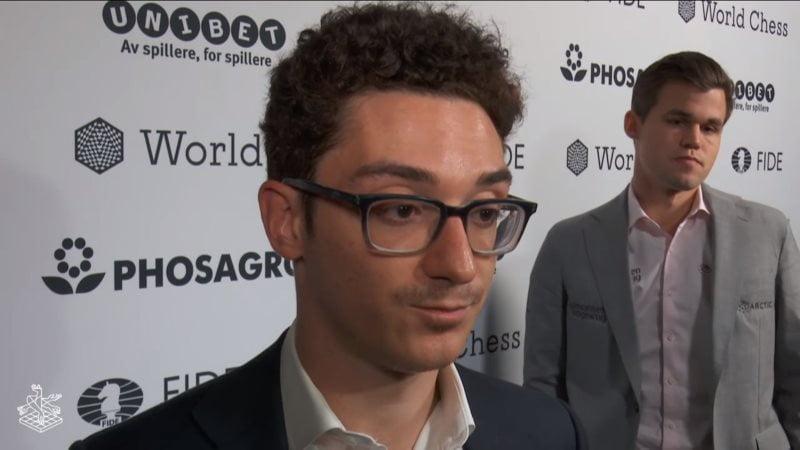 Championnat du Monde d'échecs 2018 partie 12 Interview