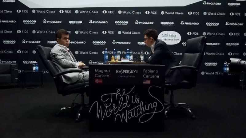 Championnat du Monde d'échecs 2018 partie 2 avant début