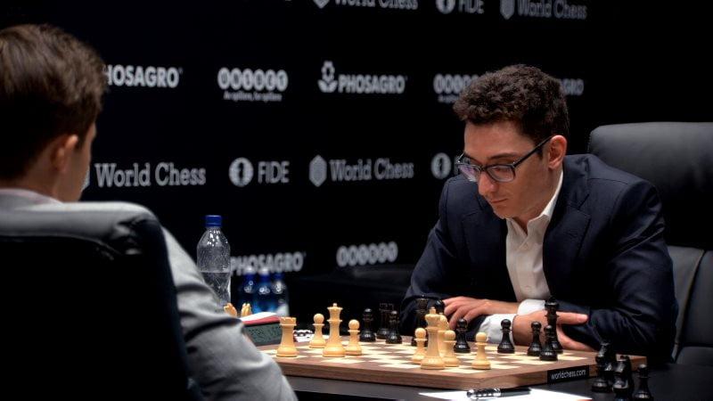 Championnat du Monde d'échecs 2018 partie 2 coup 21