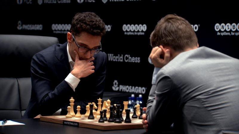 Championnat du Monde d'échecs 2018 partie 3 Caruana Carlsen