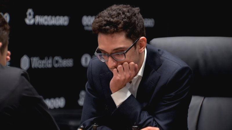 Championnat du Monde d'échecs 2018 partie 4 Fabiano Caruana coup 11