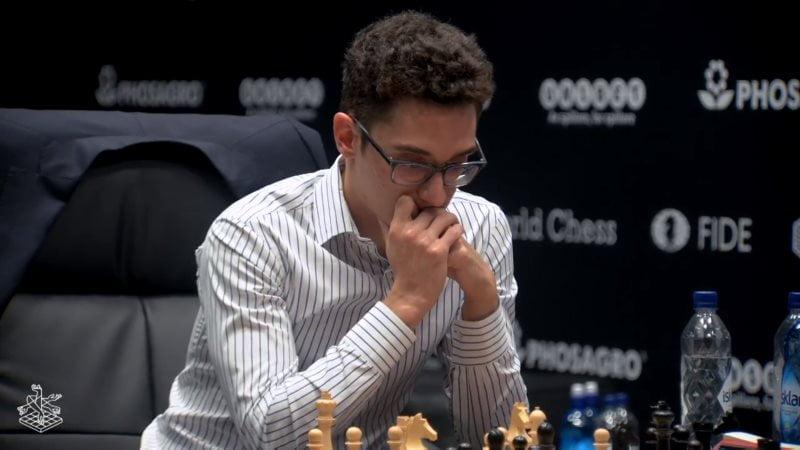 Championnat du Monde d'échecs 2018 partie 5 Fabiano Caruana
