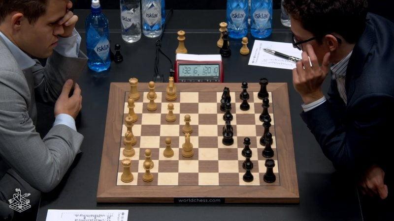 Championnat du Monde d'échecs 2018 partie 6 Carlsen-Caaruana