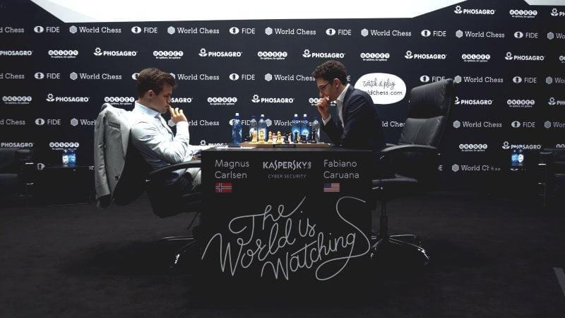 Championnat du Monde d'échecs 2018 partie 6 coup 29
