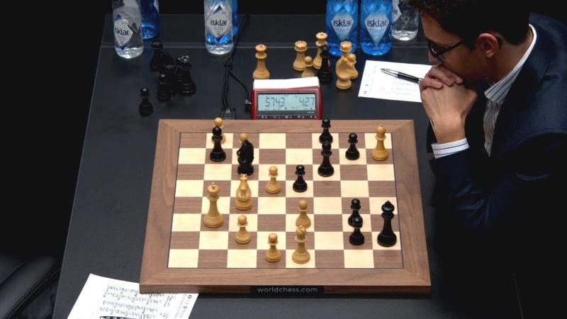 Championnat du Monde d'échecs 2018 partie 6 coup 40
