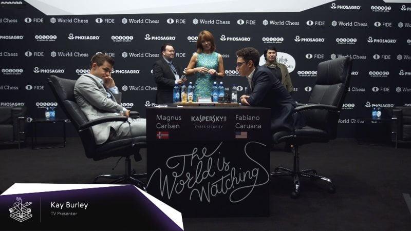 Championnat du Monde d'échecs 2018 partie 6 début