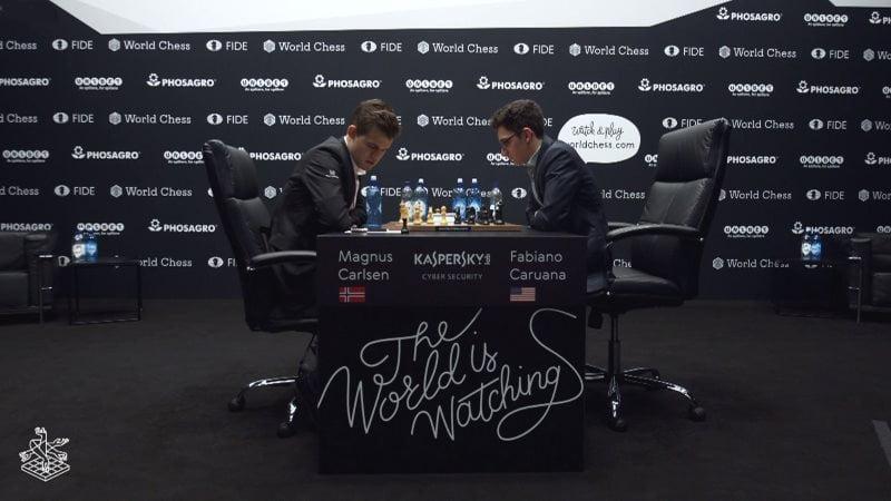 Championnat du Monde d'échecs 2018 partie 7 Carlsen-Caruana