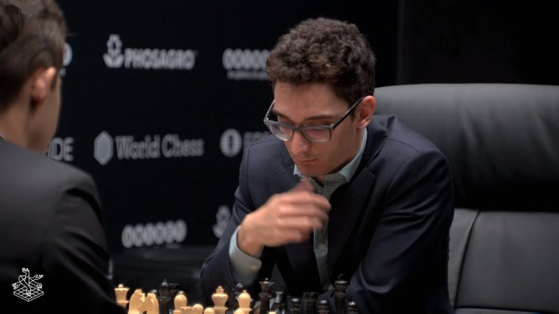 Championnat du Monde d'échecs 2018 partie 7 Fabiano Caruana