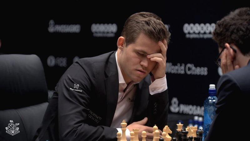 Championnat du Monde d'échecs 2018 partie 7 Magnus Carlsen