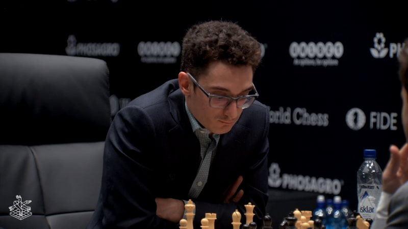 Championnat du Monde d'échecs 2018 partie 8 Fabiano Caruana