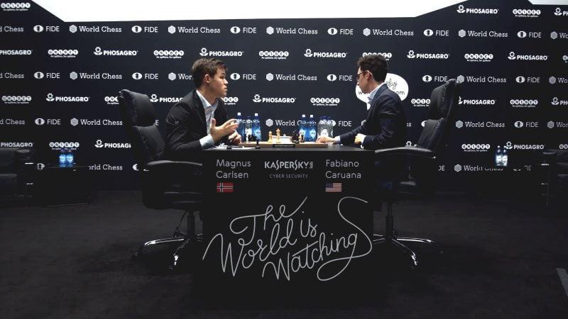 championnat-monde-echecs-2018-partie-9-proposition-nulleChampionnat du Monde d'échecs 2018 partie 9 proposition nulle