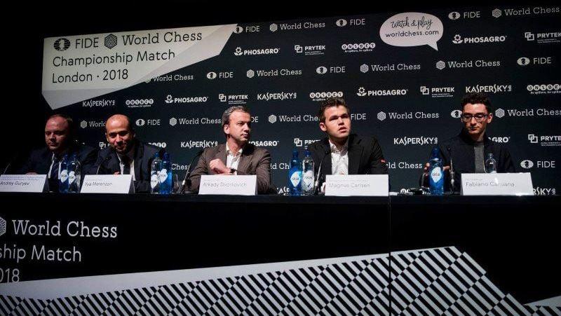 Conférence de presse d'ouverture du Match Carlsen-Caruana 2018