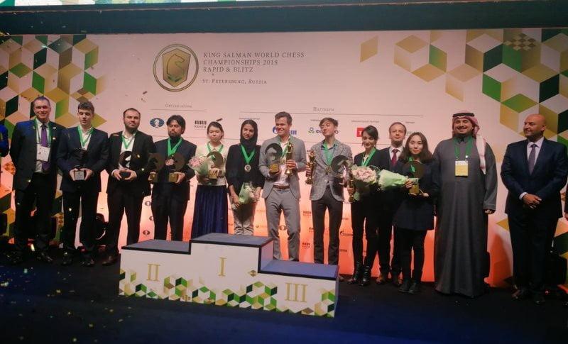 Championnat du Monde Rapide et Blitz 2018 Lauréats