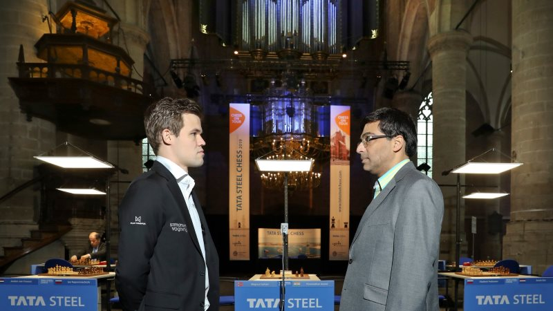 Tata Steel Chess 2019 ronde 10 Carlsen-Anand