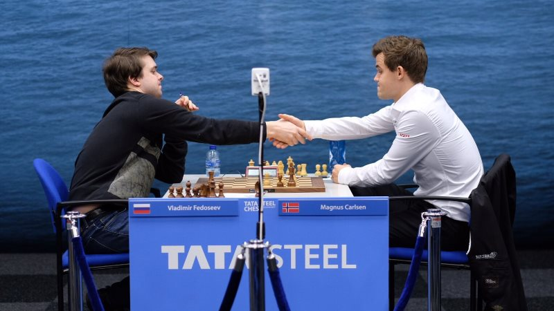 Tata Steel Chess 2019 ronde 7 Fedoseev-Carlsen
