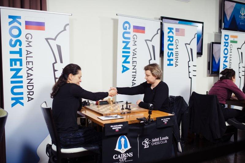 Cairns Cup 2019 Valentina Gunina et Alexandra Kosteniuk