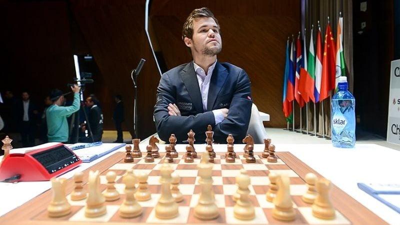 Shamkir Chess 2019 ronde 1 Magnus Carlsen
