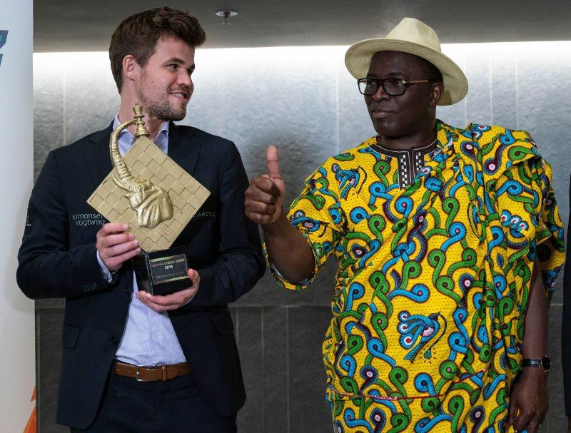 Magnus Carlsen remporte le Côte d'Ivoire Rapid & Blitz-2019