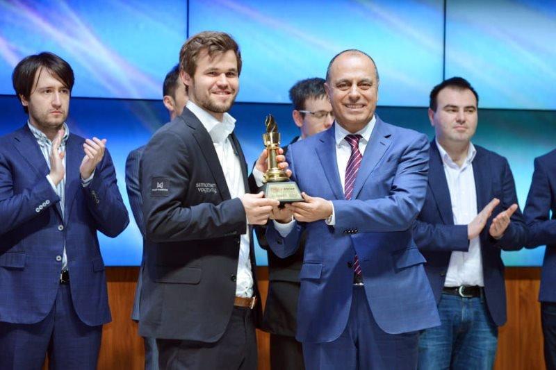 Samkir Chess 2019 Cérémonie clôture Magnus Carlsen