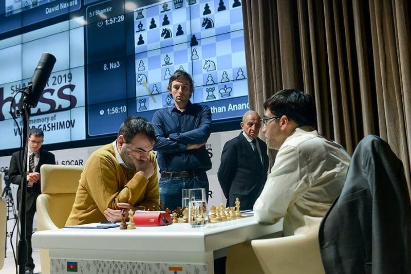 Shamkir Chess 2019 ronde 3 Anand-Mamedyarov