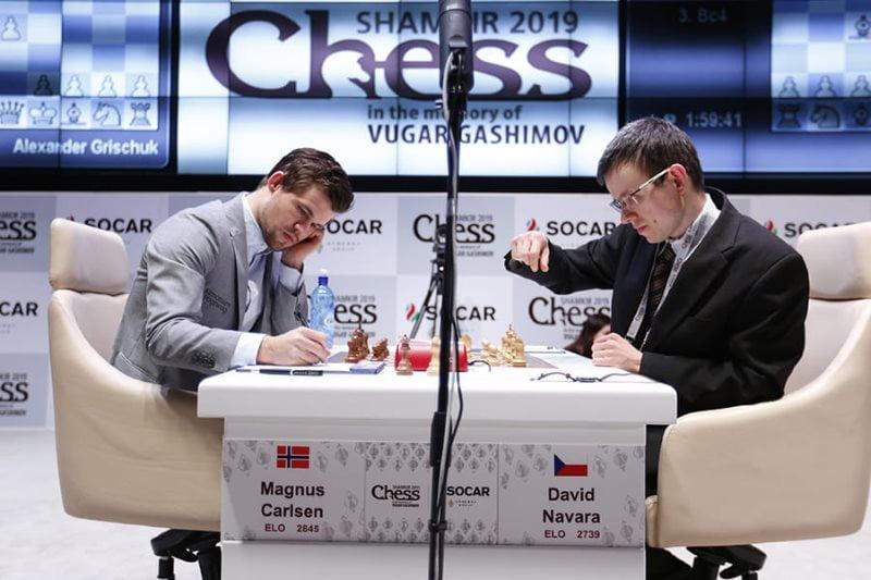 Shamkir Chess 2019 ronde 3 Navara-Carlsen