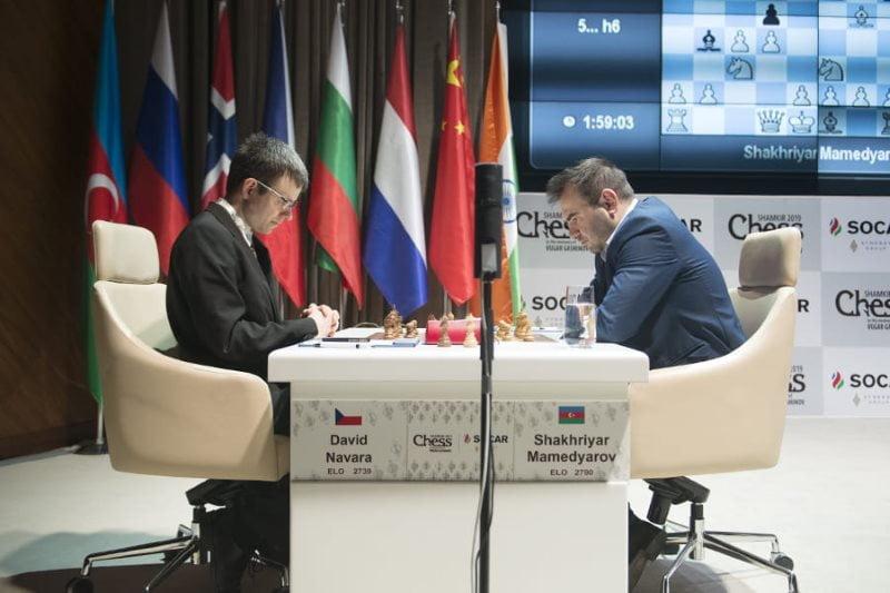 Shamkir Chess 2019 ronde 4 Mamedyarov-Navara