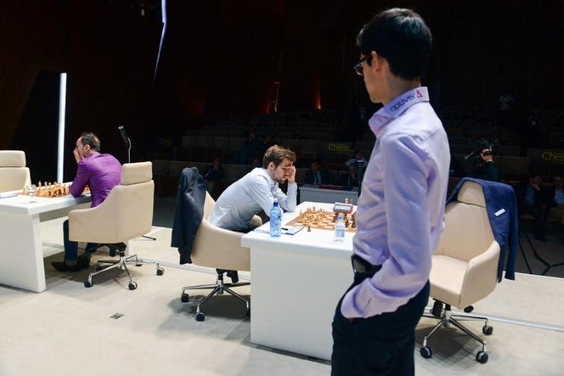 Shamkir Chess 2019 ronde 7 Carlsen-Giri