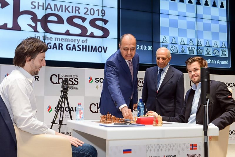 Shamkir Chess 2019 ronde 9 Carlsen-Grischuk