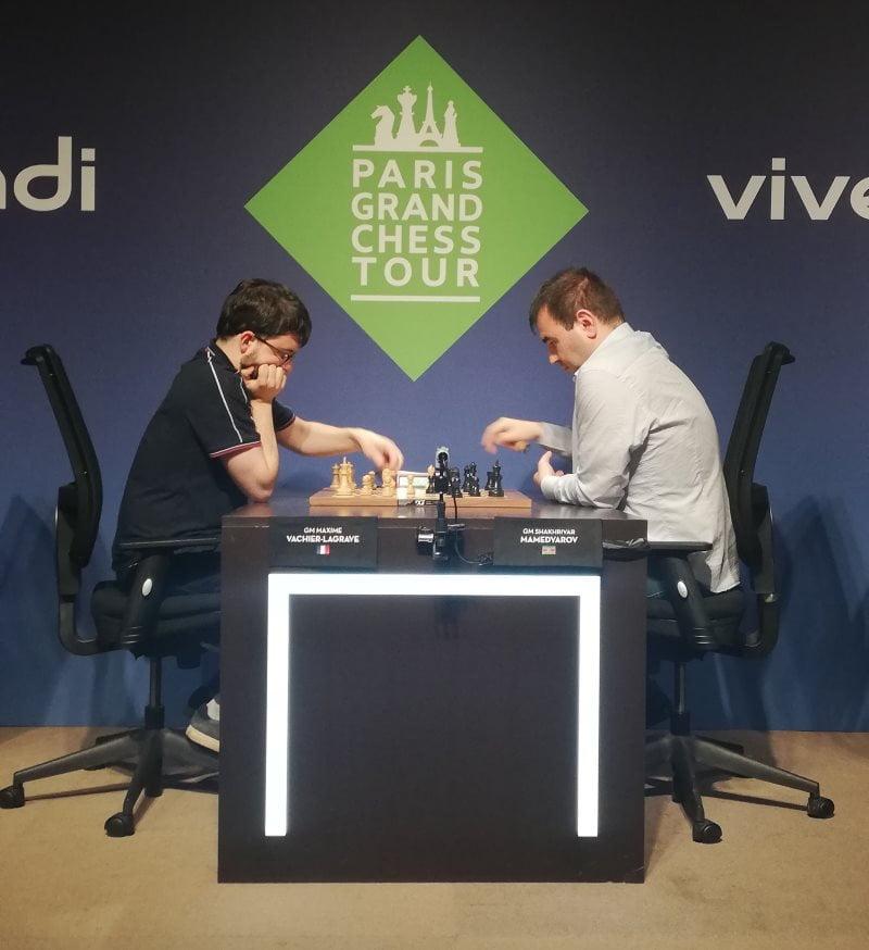 Paris Grand Chess Tour 2019 blitz Maxime Vachier-Lagrave contre Mamedyarov