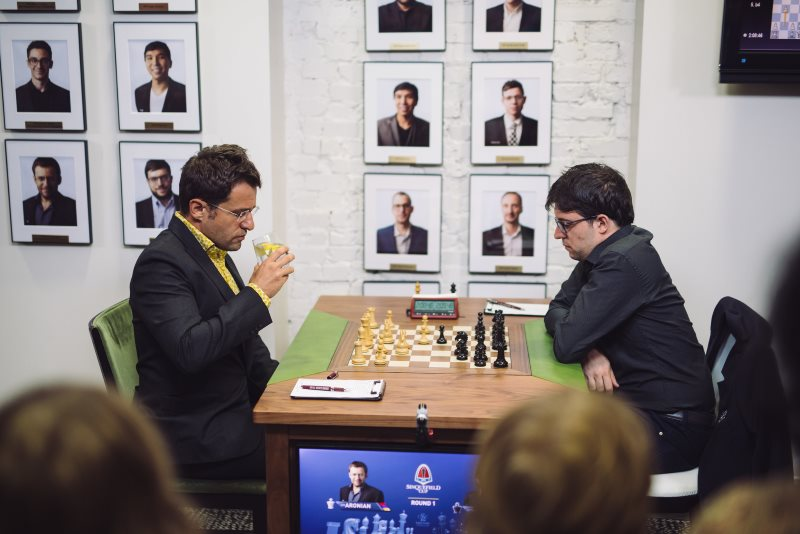Sinquefield Cup 2019 ronde 1 Levon Aronian-Maxime Vachier-Lagrave