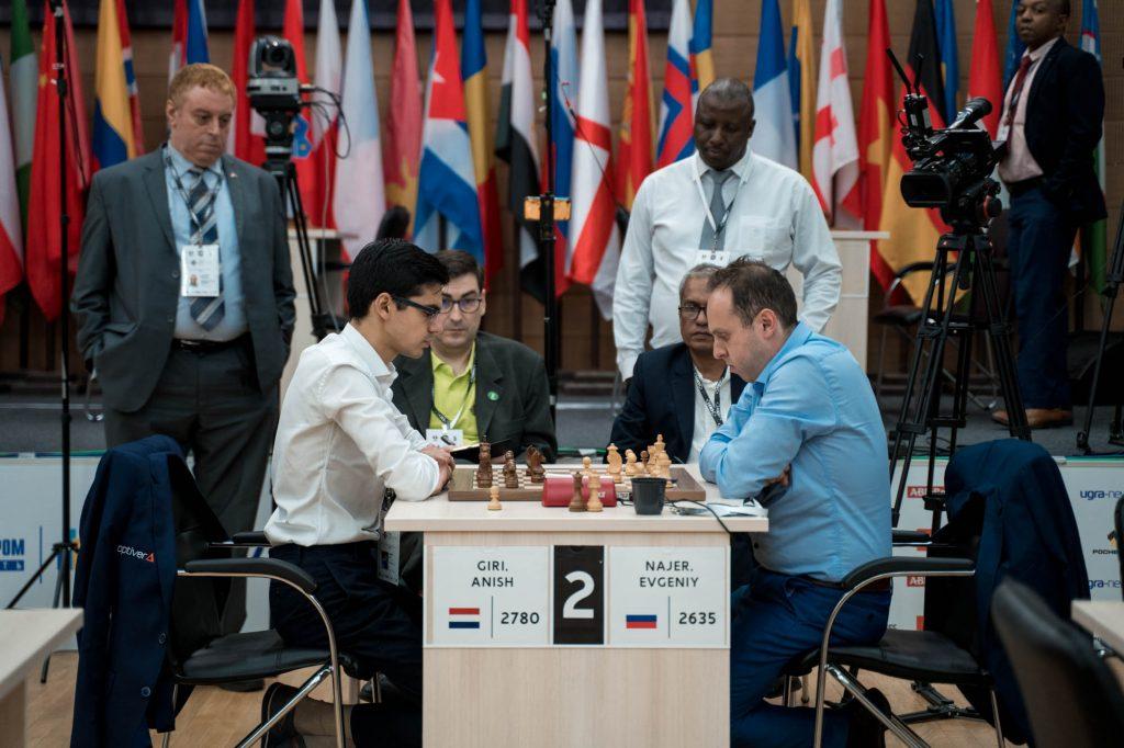 Coupe du Monde d'échecs FIDE 2019 ronde 2 départages Anish Giri