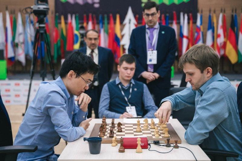 Coupe du Monde échecs FIDE 2019 ronde 6 départages Yu Yangyi-Nikita Vitiugov