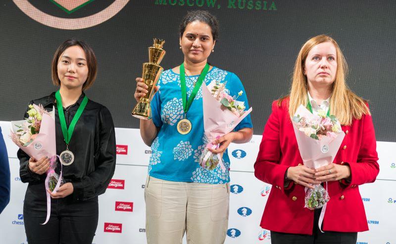 Podium Championnat Monde rapide féminin 2019