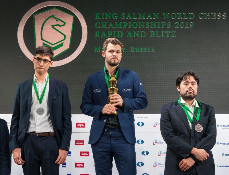 Podium Championnat Monde rapide Open 2019