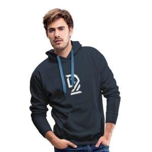 Le Cavalier Blanc - Sweat-shirt à capuche Premium pour hommes